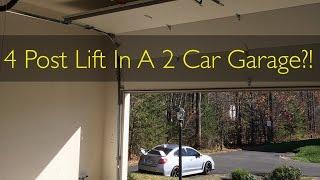 4 Post Lift Prep: Installing a High Lift Garage Door!
