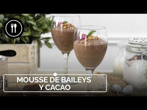 Vídeo receta de mousse de Baileys y cacao, el broche de oro perfecto de cualquier comida o cena