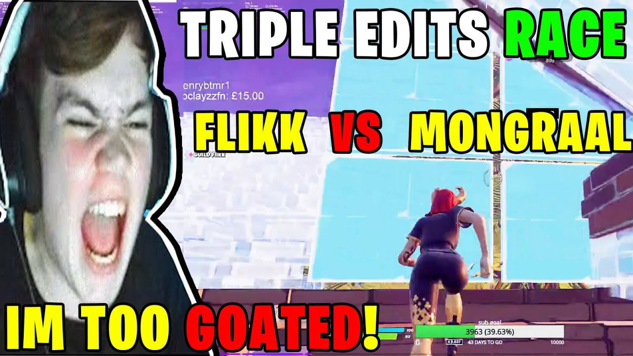 FaZe Mongraal DESTROYS Arena With Flikk Then Challange Him To a TRIPLE EDITS Race & THIS Happened!