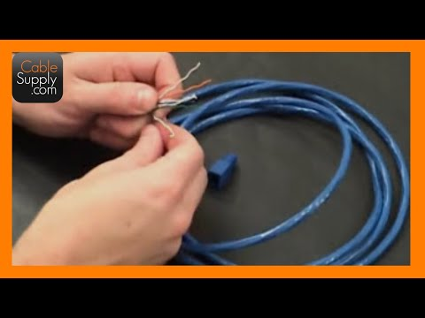 How to make a Cat6 Patch cord with strain relief boots