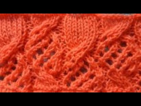 УЗОР СПИЦАМИ. УНИВЕРСАЛЬНЫЙ.КОСЫ И АЖУР В ОДНОМ УЗОРЕ./knitting Pattern