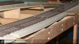 Garden Trains: #009 : Building An Indoor Large Scale Railroad : Freebie Railroad