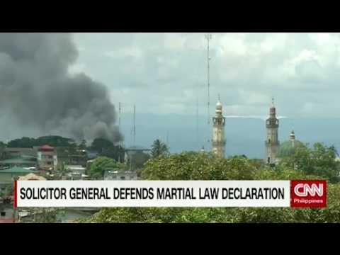 Solicitor General defends martial law declaration