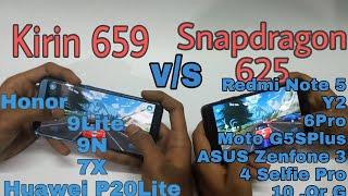 kirin 659 Processor Vs. Snapdragon 625 Processor Gaming Comparison .  Which Is Best!?