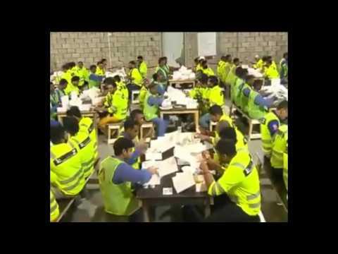 PM Modi Surprises Workers In Doha, Qatar