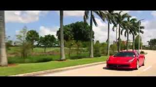 Ferrari Italia 458 Cruising Cars in Miami Florida Music Video