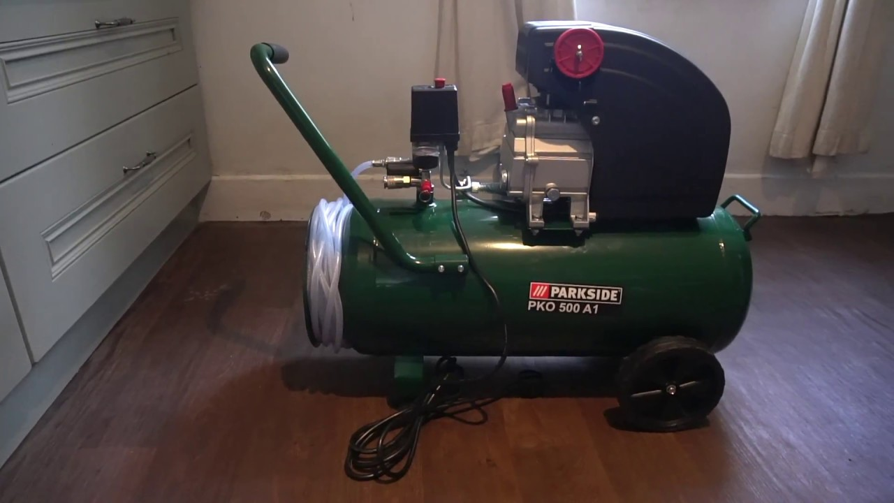 Unboxing Lidl S Parkside 50l Compressor And A Quick Look At