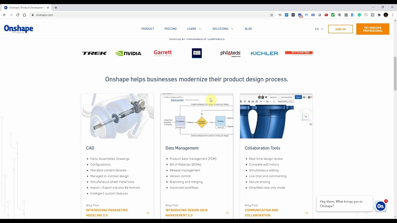 Free CAD software ฟรีโปรแกรมเขียนแบบ3มิติ CAD | Onshape SaaS