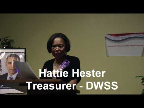 DWSS: Hattie Hester talks to the Democratic Women of the South Suburbs