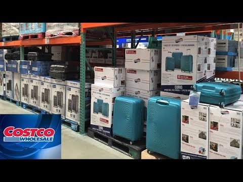 COSTCO WHOLESALE CLUB - LUGGAGE SUITCASES CARRY ON BAGS SHOP WITH ME SHOPPING STORE WALK THROUGH 4K
