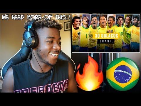 30 GOLAÇOS - SELEÇÃO BRASILEIRA Sem copa do mundo 🇧🇷  Reaction