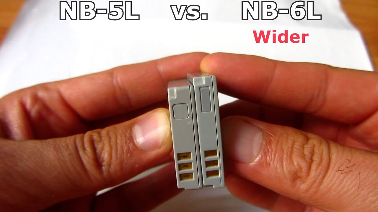 NB5L vs NB6L Canon Battery Comparison YouTube