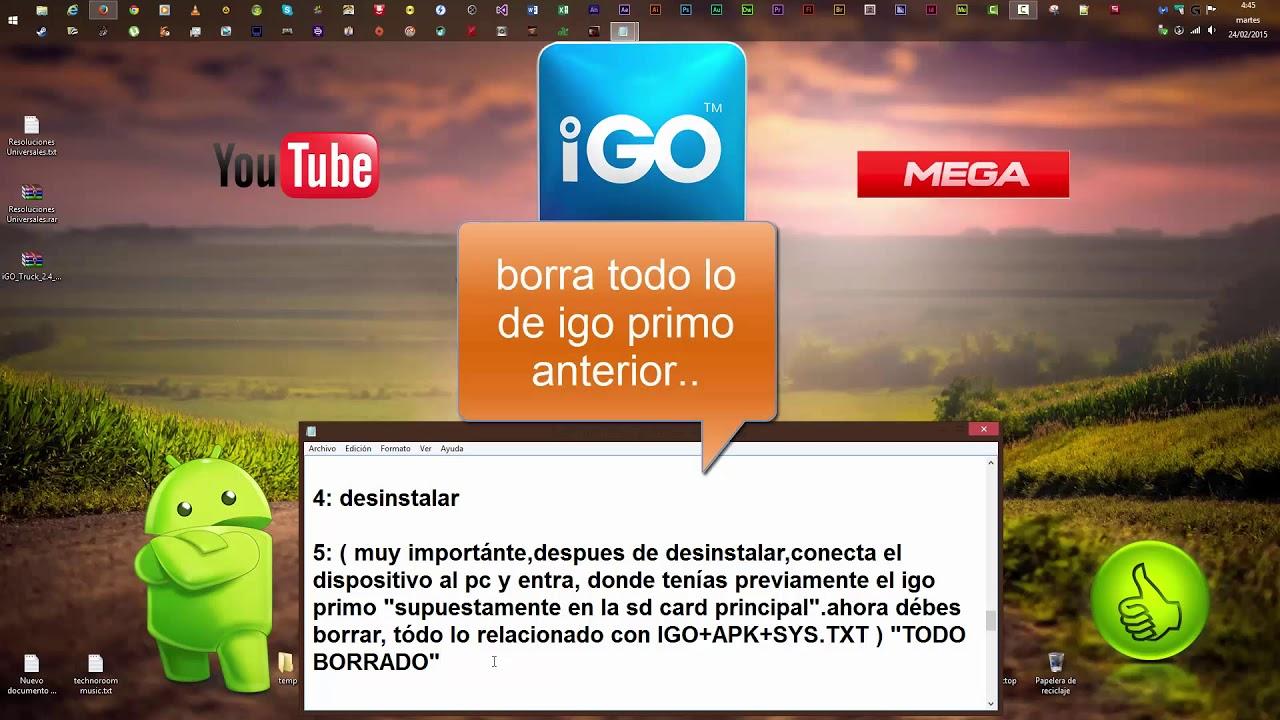 IGO Primo Truck 2015,Europe Full y Totalmente en  Español,YOUTUBE,MEGA,ANDROID
