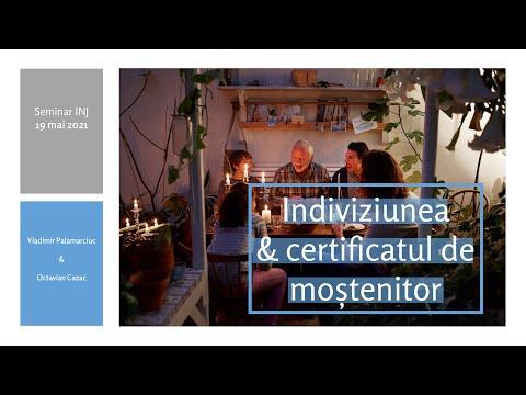 Indiviziunea succesorala & certificatul de mostenitor (MD)