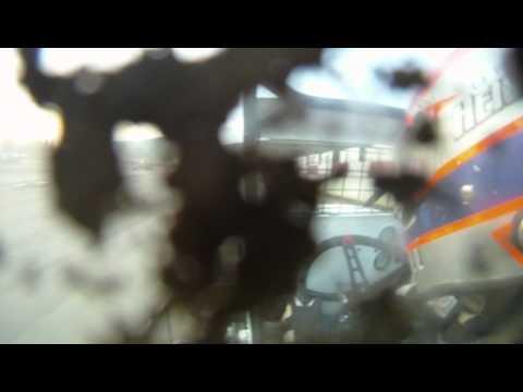 Drew Heistand in car @ Penn Can Speedway Heat race with ARDC midgets. 5-28-10