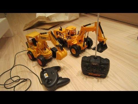 видео: Экскаваторы на радиоуправлении, rc excvavtors, rc toys