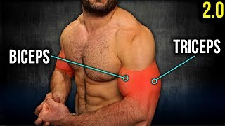 7min Home BICEPS and TRICEPS Workout 2.0 (DUMBBELL ONLY ARM WORKOUT!!)