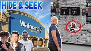 HIDE AND SEEK IN WORLDS BIGGEST WALMART!