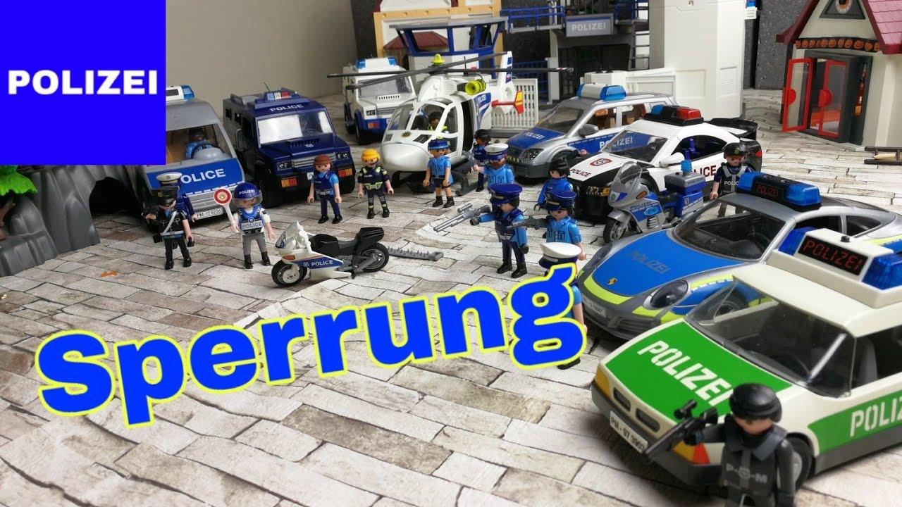 playmobil polizei feuerwehr krankenwagen  goldraub auf