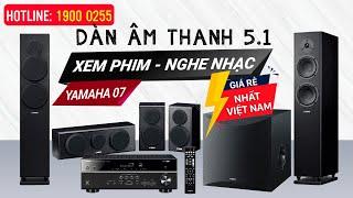 Bộ dàn âm thanh 5.1 yamaha  07, Nghe Nhạc- Xem Phim Gia đình Hay Giá Cực Rẻ