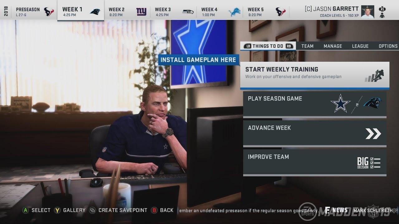 Madden NFL 19 Franchise Mode Details and Screenshots