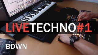 Live Techno #1 @ Akai APC40 mk2, Ableton Live - BDWN