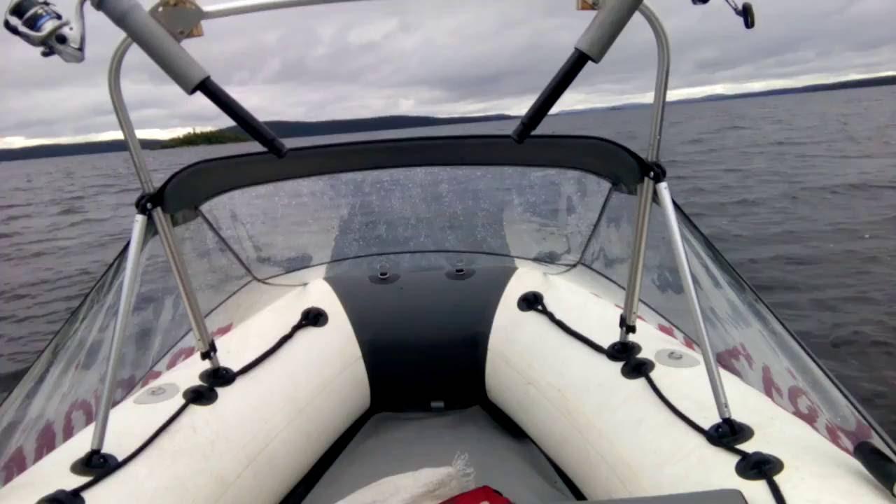 тент для лодки касатка 385
