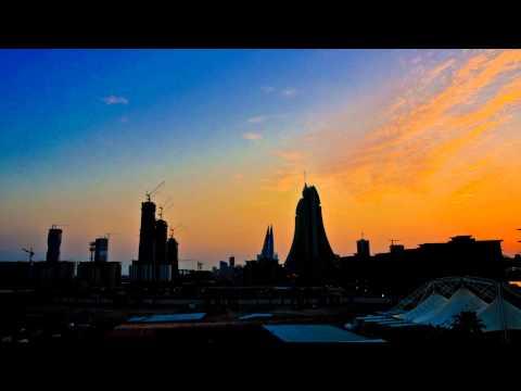 Bahrain Sunrise 04012014 - Time lapse Reef Island