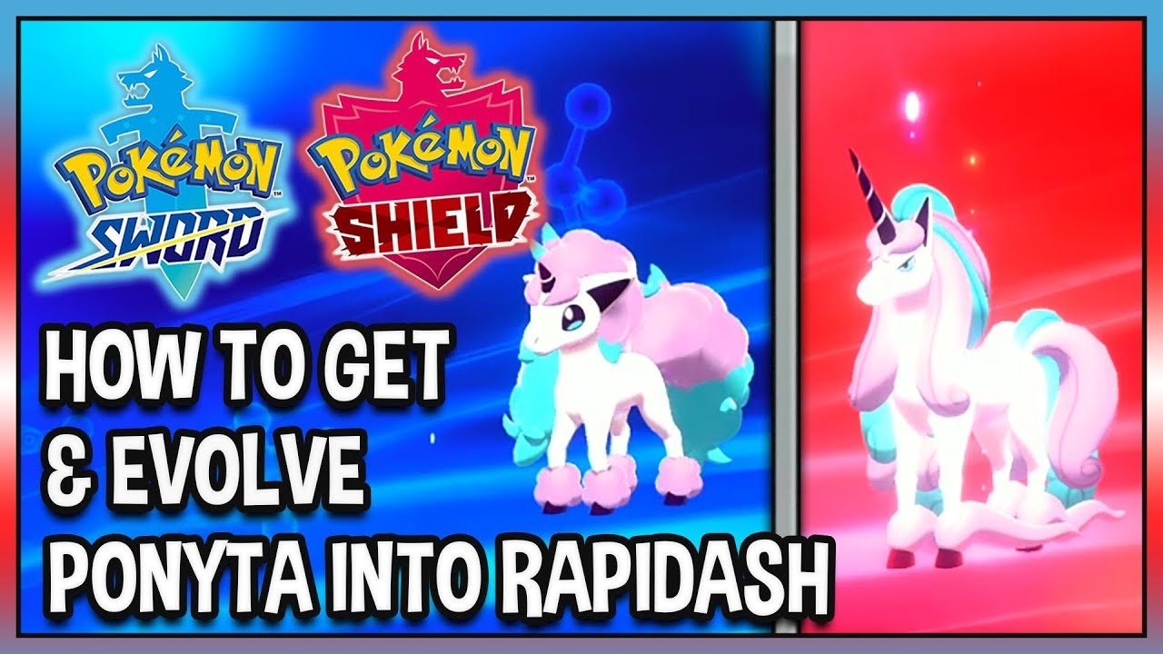How To Get Evolve Galarian Ponyta Into Galarian Rapidash In Pokemon Shield Youtube