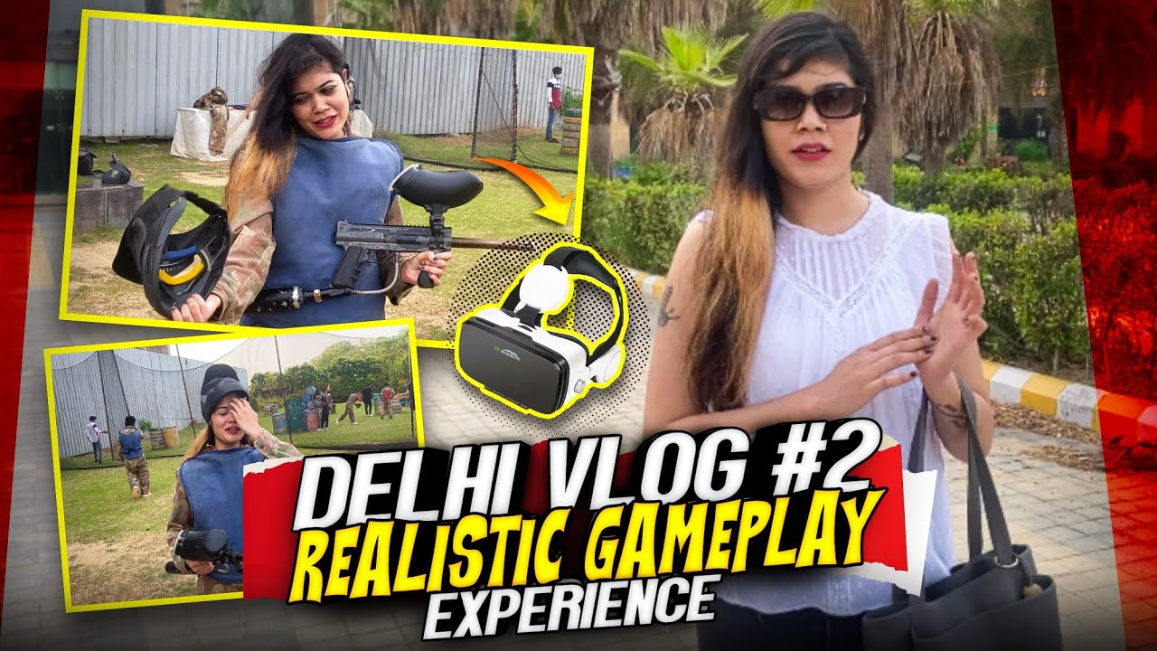 Paint Ball Kya Hota He🥵 ?? What I Feel After Playing This😱 || Delhi #vlog5 || Bindass Laila