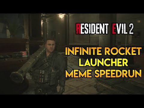 Resident Evil 2 Remake - Infinite Rocket Launcher Meme Speedrun!