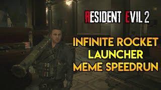 Resident Evil 2 Remake - Infinite Rocket Launcher Meme Speedrun!