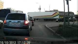 Дураки на дороге Самара ул.Аврора_Партизанская.AVI
