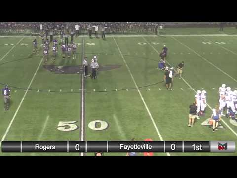 Rogers High School Football team @ Fayetteville High School