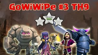 GoWiWiPe #3: Attack TH9 Strategy with Golem Wizard Witch Pekka 3 Star Clan War