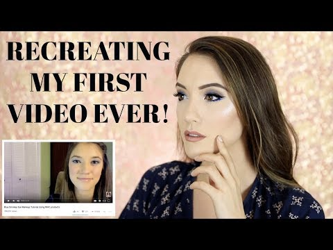 RECCREATING MY FIRST VIDEO EVER - BLUE EYE MAKEUP TUTORIAL! Day 4 | Blair Fowler