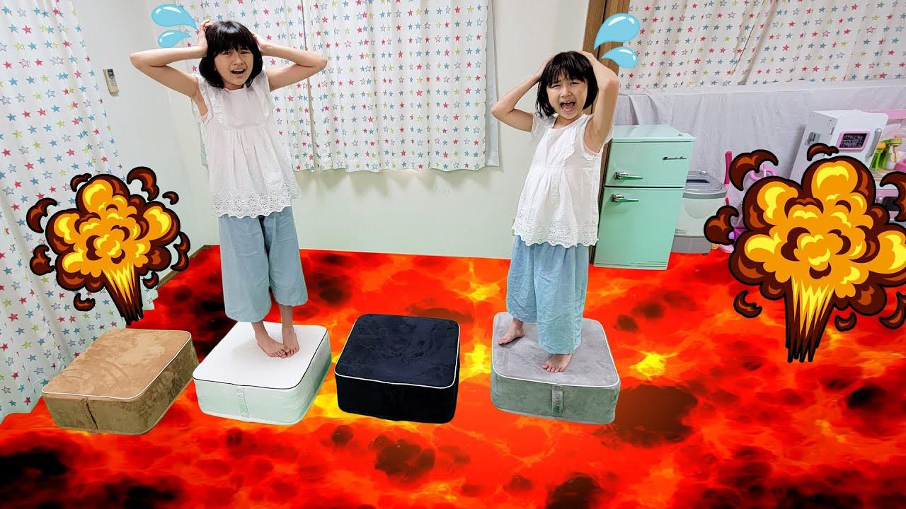 お家が溶岩だらけになっちゃった~><OPPOMANでFloor is Lava! himawari-CH