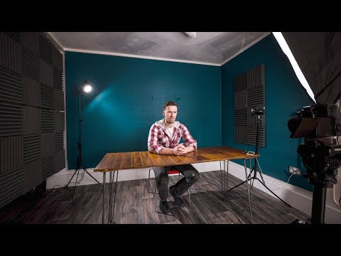 HOW TO BUILD A QUALITY DIY HOME YOUTUBE STUDIO SETUP!