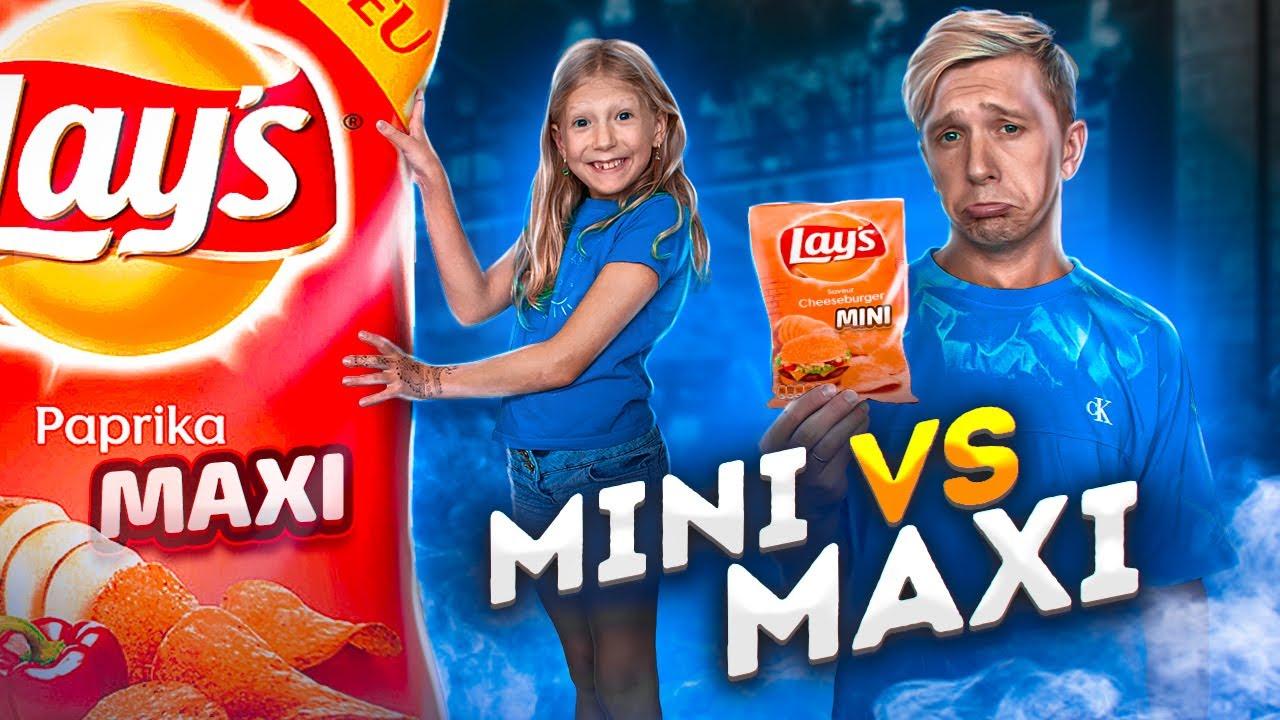 ЧЕЛЛЕНДЖ MiNi vs MAXi! Маленькое Против БОЛЬШОГО!