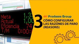 Cómo configurar las razones de paro (Reasons)
