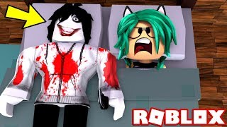 there is a boy stranger in my bed of ROBLOX (Jeff The Killer!) 😱