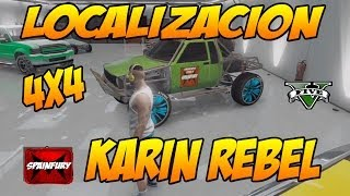 GTA V ONLINE: Localizacion de todoterreno 4x4 KARIN REBEL Camioneta tuning | Coches secretos & Raros(CONSIGUE DINERO GTA V FÁCIL -