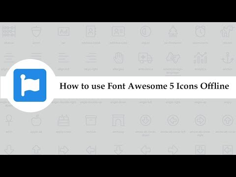 How To Use Font Awesome 5 Icons Offline