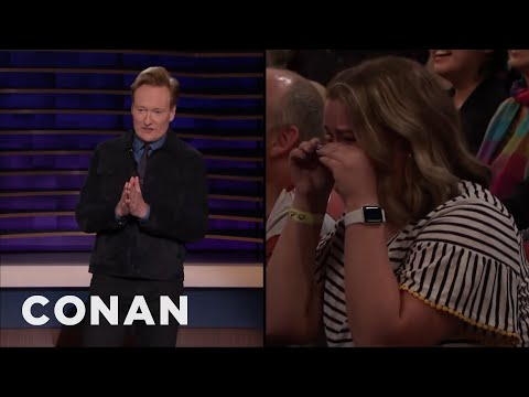 Conan Makes A Woman In The Audience Cry - CONAN on TBS