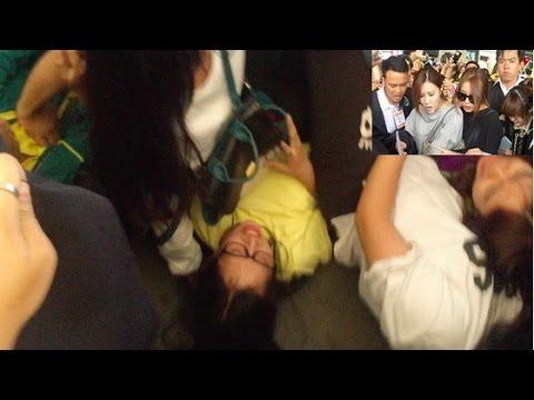 Fan Việt dẫm đạp lên nhau khi cố tiếp cận nhóm T-Ara tại sân bay