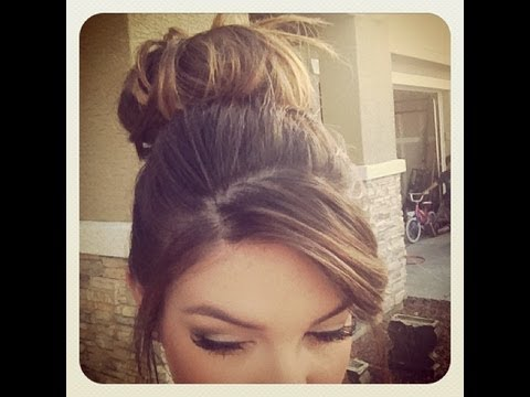 How To Messy Bun For Short Thin Hair
