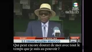 Obiang : « Je ne changerai pas »