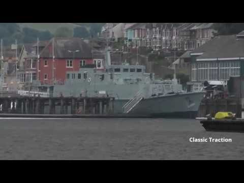 FORMER HMS CROMER M103 NOW CALLED 'HINDOSTAN' AT SANDQUAY, BRITANNIA ROYAL NAVAL COLLEGE