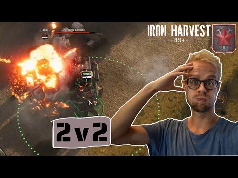 Stressiger als gedacht auf Crash Site ▶ Iron Harvest Gameplay deutsch [Rusviet] [2v2] |
