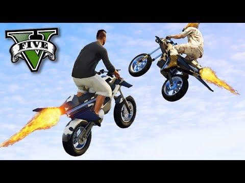 GTA V Online: MOTO de ASAS QUE VOA - A BATALHA!!! (DLC GUNRUNNING)